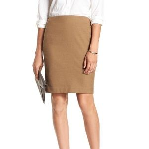 Banana Republic Camel Pencil Skirt